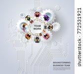 idea concept for business... | Shutterstock .eps vector #772531921