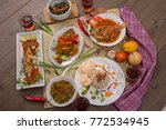 fish for lunch menu  ... | Shutterstock . vector #772534945