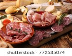 Assorted Cheese Meats And Brea...