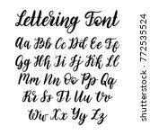 vector hand lettering alphabet. ... | Shutterstock .eps vector #772535524