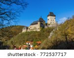 castle karlstejn in czech... | Shutterstock . vector #772537717
