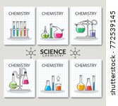 set of scientific laboratory... | Shutterstock .eps vector #772539145