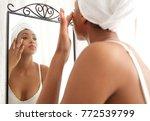 beautiful african american... | Shutterstock . vector #772539799