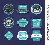 happy new year badges and... | Shutterstock .eps vector #772540729