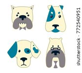 llustration of heads dogs set | Shutterstock .eps vector #772540951