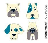 llustration of heads dogs set | Shutterstock .eps vector #772540951