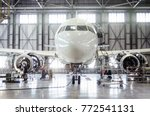 passenger aircraft on... | Shutterstock . vector #772541131