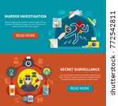 two detective banner set with... | Shutterstock .eps vector #772542811
