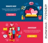 two horizontal valentines day... | Shutterstock .eps vector #772542829