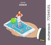 online coach flat isometric... | Shutterstock .eps vector #772545151