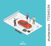 vehicle rental flat isometric... | Shutterstock .eps vector #772545154