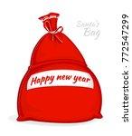 santa claus red bag. big sack... | Shutterstock .eps vector #772547299