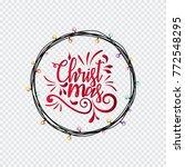 hand lettering merry christmas... | Shutterstock .eps vector #772548295
