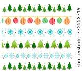 christmas borders  ornamental... | Shutterstock .eps vector #772553719