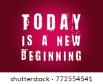 fitness motivation quote | Shutterstock . vector #772554541