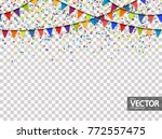 seamless colored garlands and... | Shutterstock .eps vector #772557475