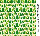 christmas pattern trees and... | Shutterstock .eps vector #772557649