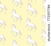 unicorn and rainbow seamless... | Shutterstock . vector #772557784