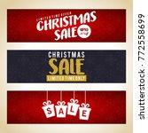 sale banner. christmas sale... | Shutterstock .eps vector #772558699