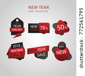 collection of new year sale tags | Shutterstock .eps vector #772561795