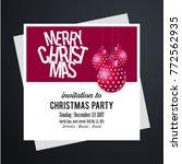 merry christmas invitation card | Shutterstock .eps vector #772562935