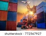 logistics and transportation of ...   Shutterstock . vector #772567927