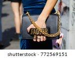 milan   september 23  woman...   Shutterstock . vector #772569151