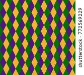 mardi grass seamless pattern... | Shutterstock .eps vector #772569229