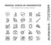 medical check up  flat line... | Shutterstock .eps vector #772570099