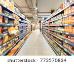 abstract blurred supermarket... | Shutterstock . vector #772570834