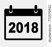 flat vector calendar icon 2018. ...