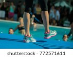 close up of instructor legs at... | Shutterstock . vector #772571611