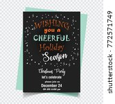 wishing you a cheerful holiday... | Shutterstock .eps vector #772571749