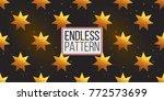 gold polygonal shape  magic... | Shutterstock .eps vector #772573699