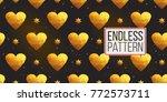 gold polygonal shape  magic... | Shutterstock .eps vector #772573711