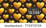 gold polygonal shape  magic... | Shutterstock .eps vector #772573729