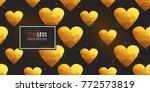 gold polygonal shape  golden... | Shutterstock .eps vector #772573819