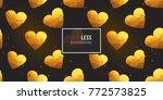 gold polygonal shape  golden... | Shutterstock .eps vector #772573825