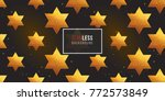 gold polygonal shape  david... | Shutterstock .eps vector #772573849
