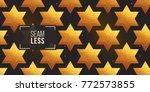 gold polygonal shape  david... | Shutterstock .eps vector #772573855
