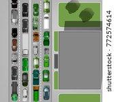 heavt traffic background with... | Shutterstock .eps vector #772574614