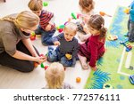 games in kindergarten | Shutterstock . vector #772576111
