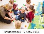 games in kindergarten | Shutterstock . vector #772576111