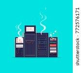 broken server. flat design... | Shutterstock .eps vector #772576171