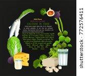 calcium in food template. ...   Shutterstock .eps vector #772576411