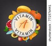 vitamin a banner. beautiful... | Shutterstock .eps vector #772576441