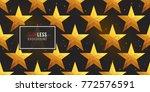gold polygonal shape  american... | Shutterstock .eps vector #772576591
