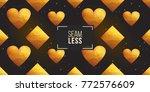 gold polygonal shape  rhombus ... | Shutterstock .eps vector #772576609