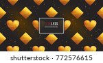 gold polygonal shape  rhombus ... | Shutterstock .eps vector #772576615