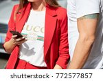 milan   september 23  woman... | Shutterstock . vector #772577857
